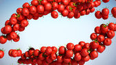 Red Tomatoe Cherry streams — Stock Photo