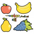 Vector fruit set - Stock Vector