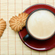 Cappuccino and cookies — Stockfoto