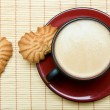 Cappuccino and cookies — Foto Stock