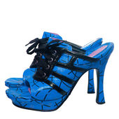 Blue sandals — Stock Photo