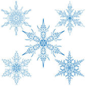 Vector set of snowflakes — Stock Vector