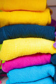Pile of bright colored tights for children — Stock Photo
