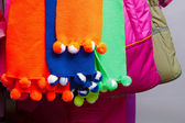 Children's multicolored scarves — Stock Photo