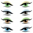 Vector set. Eyes of different colors — Stock Vector #7912159