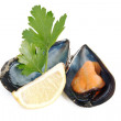 Mussel lemon and parsley — Stock Photo #6928485