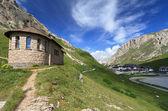 Chapel in Pordoi pass — Stock Photo