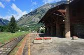 Old Alpine rail station — Stock Photo