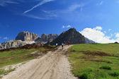Cycling on Dolomites — Stock Photo