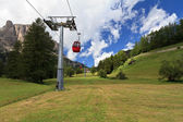 Cableway in Dolomites — Stock Photo
