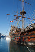 Olg galleon — Stockfoto