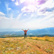 Man on the mountain — Stock Photo