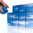 Sky of the cubes - Stock Photo