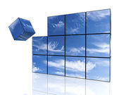 Sky of the cubes — Stock Photo