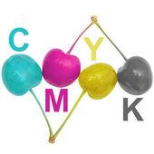 CMYK cherries — Stock Photo