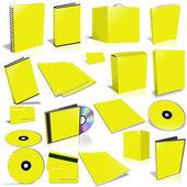 Colección tapa 3d amarillo — Foto de Stock