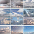 Stock Photo: Twelve background of clouds.