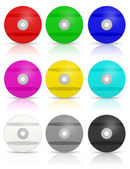 Many Colorful DVD's. — Stock Photo