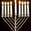 Hanukkah Menorah / Hanukkah Candles - Stock Photo