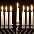 Hanukkah Menorah / Hanukkah Candles — Stock Photo #7542032