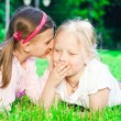 Two pretty young girls — Stock Photo