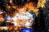 Капли воды на стекле — Стоковое фото