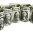 The dollar banknotes — Stock Photo