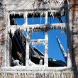 The winter window — Stock Photo