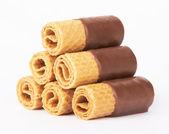 Cookies de chocolate waffle — Foto Stock