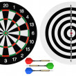 Dartboards and darts — Stock Photo