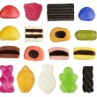 assortimento di caramelle colorate isolata — Foto Stock