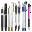 Pens on white — Stockfoto