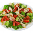 Salad on white - Stock Photo