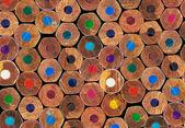 Coloured pencils background — Stock Photo