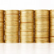 Gold coin stack — Stock Photo