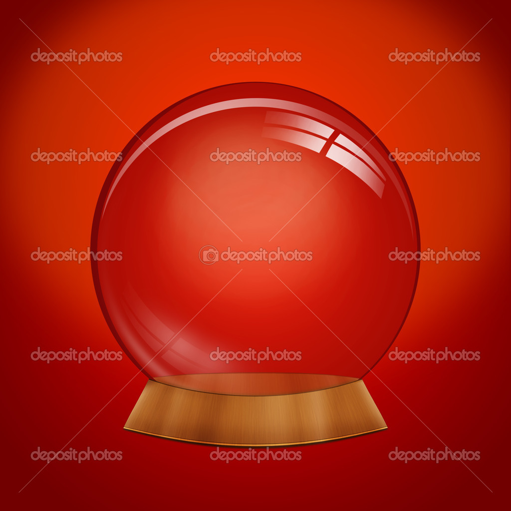 Empty dome against a red background - customize by inserting your own object  Stock Photo #7691224