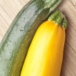 Greean and Golden Yellow Zucchini Squash — Stock Photo