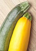 Greean and Golden Yellow Zucchini Squash — Stock Photo