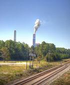 Smoke Stack with White Smoke — Stock Photo