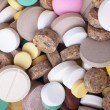 Stock Photo: Heap of colored tablets