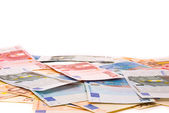 Euro banknotes background — Photo