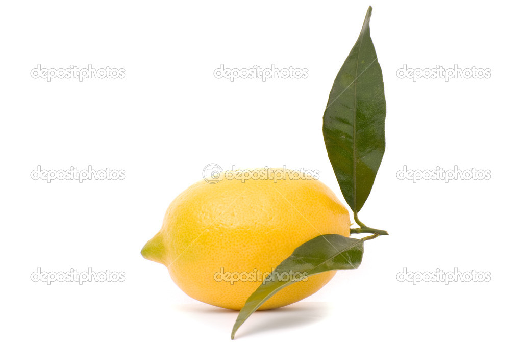 Juicy lemon isolated on a white background. — Stock Photo #6971924