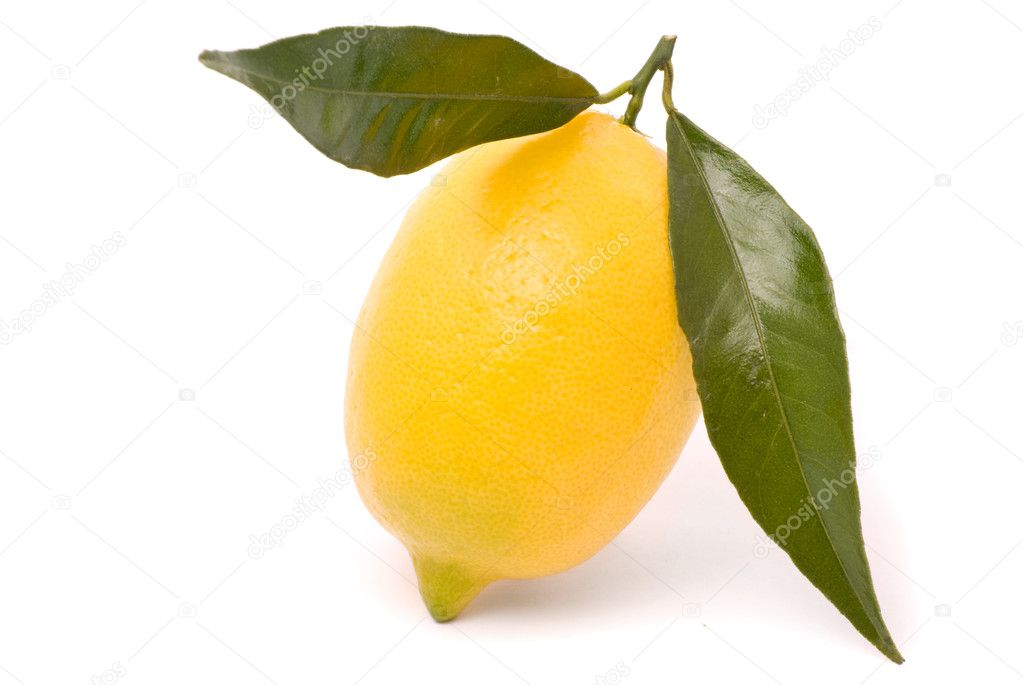 Juicy lemon isolated on a white background. — Stock Photo #6971951