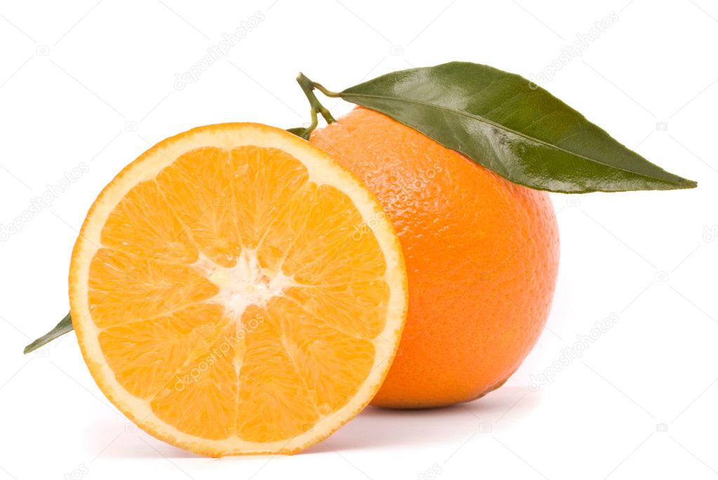 Juicy orange isolated on a white background. — Stock Photo #6972053