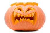 Evil Halloween pumpkin — Stock Photo