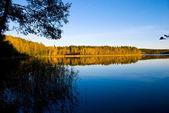 A beautiful sunset at lake — Stock Photo