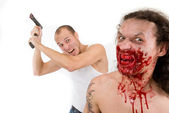 Man kills maniac — Stock Photo