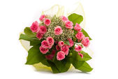 Beautiful Roses bouquet on white background — Foto Stock