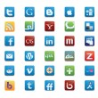 Social Media Icons — Stockvektor