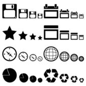Simple Icon Collection — Stock Vector